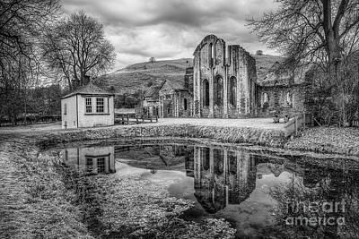 Llangollen Digital Art - Abbey Reflections by Adrian Evans