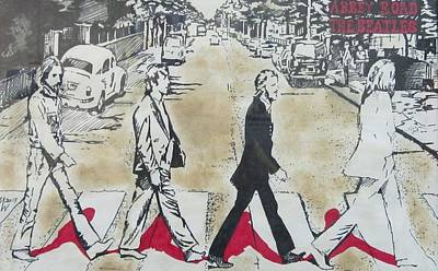 Painting - Abbey Road Crossing by Martin Williams