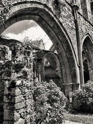 Photograph - Abbey Ruins Arches by Menega Sabidussi