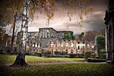 Abandoned House Photograph - abbey ruins Villers la ville Belgium by Dirk Ercken