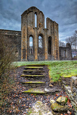 Abbey Steps Print by Adrian Evans