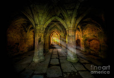 Abbey Sunlight Art Print by Adrian Evans