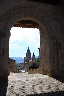 Abbey Through Doorway - Cluny Art Print by Christiane Schulze Art And Photography