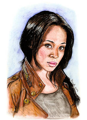 Mixed Media - Abbie Mills by Deirdre DeLay