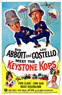 Abbott And Costello Meet The Keystone Art Print by Everett