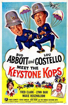 Fred Lynn Photograph - Abbott And Costello Meet The Keystone by Everett