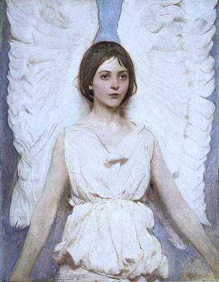 Angel Painting - Abbott Handerson Thayer Angel 1886 by Movie Poster Prints