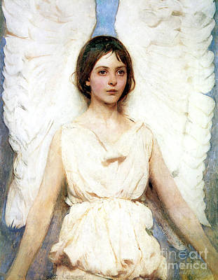 Angel Painting - Angel by Abbott Handerson Thayer