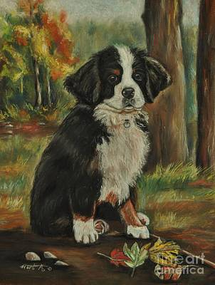 Painting - Abby - Bernese Mountain Dog by Heather Kertzer