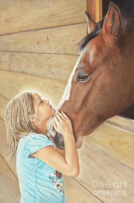 Drawing - Abby's Connection by Helen Bailey