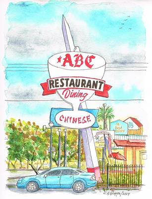 Meal Painting - Abc Restaurant In Route 66 Andy Devine Ave - Kingman - Arizona by Carlos G Groppa