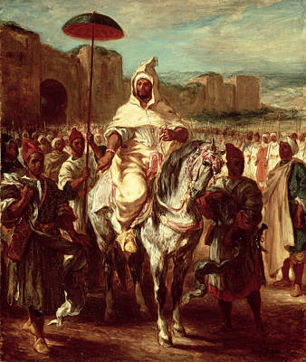 Orientalists Photograph - Abd Ar-rahman, Sultan Of Morocco, 1845 Oil On Canvas by Ferdinand Victor Eugene Delacroix