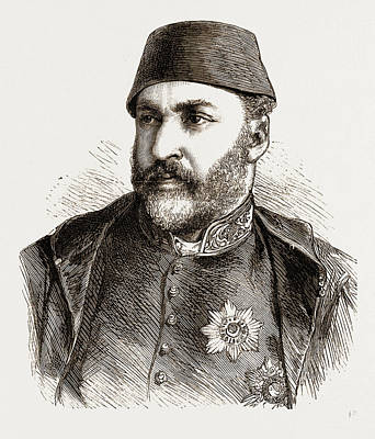 1876 Drawing - Abd-ul-aziz, The Late Sultan Of Turkey by Litz Collection