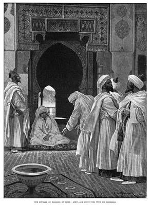 Moroccan Drawing - Abdelaziz Of Morocco (1878-1943) by Granger