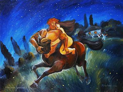 Painting - Abduction Of Deinira by Mikhail Zarovny