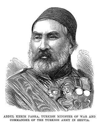 Serbian Painting - Abdul Kerim Pasha (1807-1883) by Granger