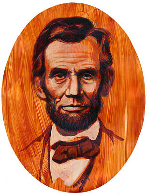 Lincoln Portrait Painting - Abe Lincoln  by Harry West