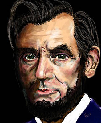 Digital Art - Abe Lincoln by Maria Schaefers