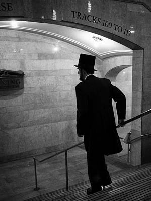 Photograph - Abe Takes The Train by Cornelis Verwaal