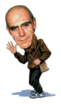 Phil Painting - Abe Vigoda by Art