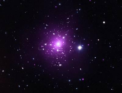 Abell 383 Galaxy Cluster Art Print by X-ray: Nasa/cxc/caltech/a.newman Et Al/tel Aviv/a.morandi & M.limousin; Optical: Nasa/stsci, Eso/vlt, Sdss
