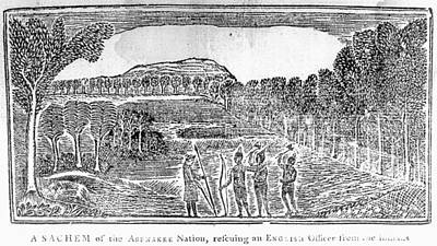 Colonial Man Painting - Abenaki Men And Soldier by Granger