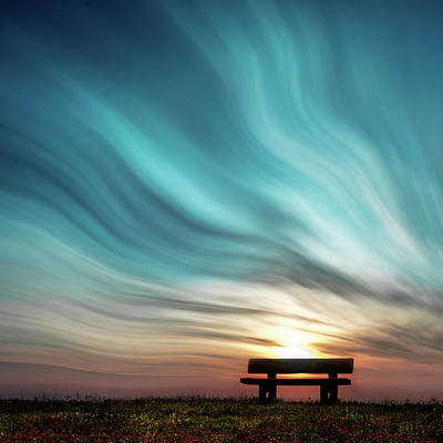 Bench Wall Art - Photograph - Abendda?mmerung by Stefan Eisele