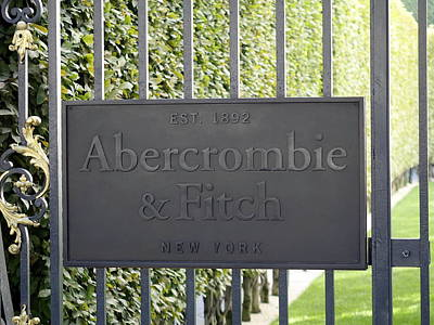 Abercrombie And Fitch Store In Paris France Art Print by Richard Rosenshein