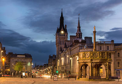 Aberdeen At Night Art Print