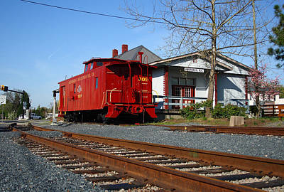 Photograph - Aberdeen Caboose by Joseph C Hinson Photography