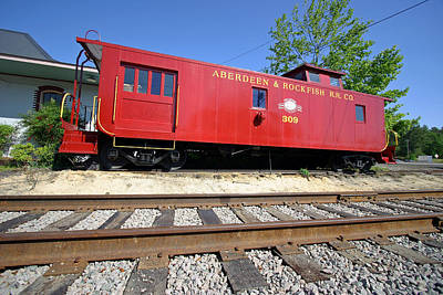 Photograph - Aberdeen Caboose V2 by Joseph C Hinson Photography