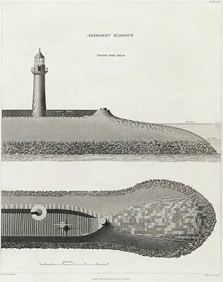 Aberdeen Harbour Art Print by British Library