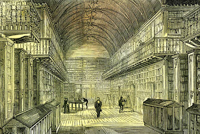Archives Drawing - Aberdeen Uk Kings Collage Library 1885 by English School