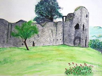 Medieval Painting - Abergavenny Castle by Denise Railey