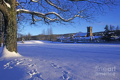 Aberlour Winter Art Print by Phil Banks