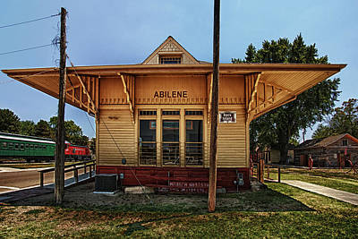 Train Tracks Photograph - Abilene Station by Mary Jo Allen