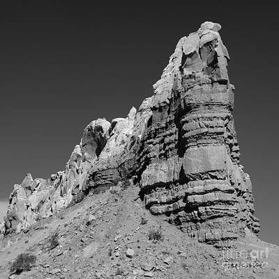 Photograph - Abiquiu Landscape Vi Bw Sq by David Gordon