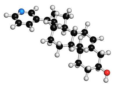 Abiraterone Prostate Cancer Drug Molecule Art Print by Molekuul