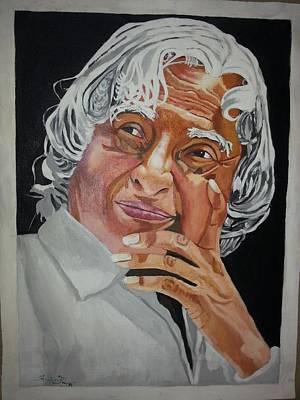 Kalam Painting - A.b.j. Abdhul Kalam by Sankaranaryanan