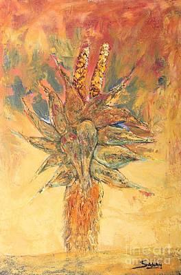 Aloe Vera Painting - Ablaze by Andrew Sanan