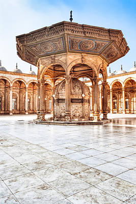 Photograph - Ablutions Fountain In The Courtyard Of The Alabaster Mosque by Mark E Tisdale