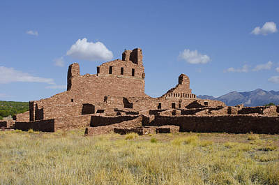 Abo Ruins Of Salinas Pueblo Missions National Monument Art Print by Shelley Dennis