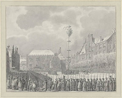 Abolition Drawing - Abolition Of Stadhouderschap On The Grote Markt In Haarlem by Quint Lox