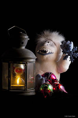 Abominable Snowman Photograph - Abominable Christmas by Scott Wyatt