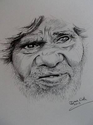 Aboriginal Eyes Art Print