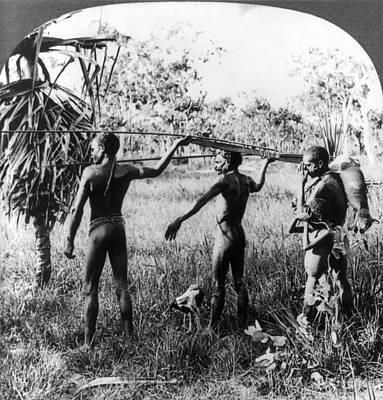 Australian Native Painting - Aboriginal Hunters, C1921 by Granger