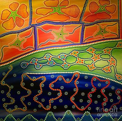 Aboriginal Inspirations 7 Art Print