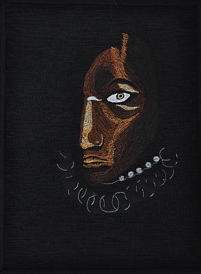 Tapestry - Textile - Aboriginal Woman by Jo Baner