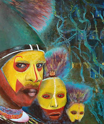 Indigenous Australians Painting - Australian Aboriginal Art. Aborigine by Magdalena Walulik