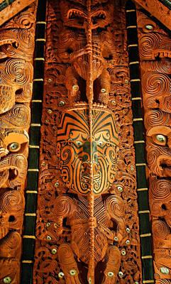 Aborigine Wood Carving On Architecture Original